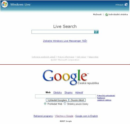 Google vs. Windows Live Search