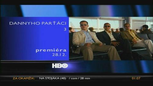 HBO - info lišta