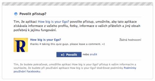 Facebook: právě povolujete aplikaci použít všechna vaše data