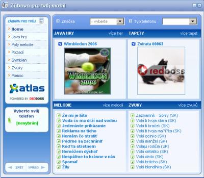 ICQ Atlas - mobilni obsah