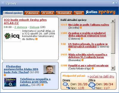 Atlas ICQ - zprávy