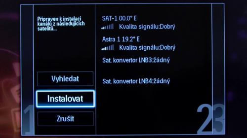 Philips 42PFL7606K - instalace satelit
