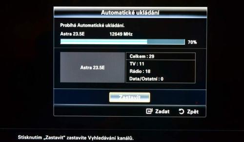 Samsung LED6900 prohledávání