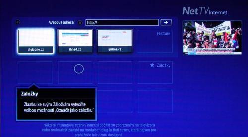 Philips 50PFL7956H internet oblíbené