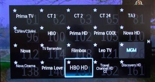 Philips 42PFL7606K - přehled kanálů