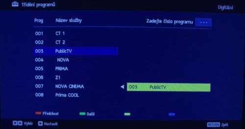 Sony kdl_40zx1 třídění kanálů
