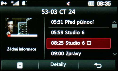 LG KB770 - TV EPG