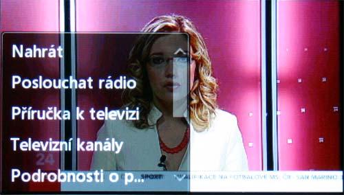 LG KB770 - TV menu