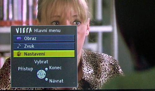 Panasonic TX-L42V20E menu hlavní