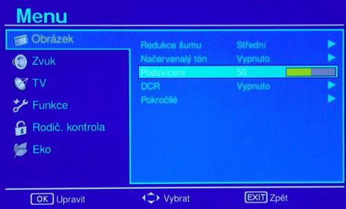 Sharp LC-32LE320E menu obraz pokročilé