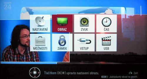 LG LD950 - menu úvod