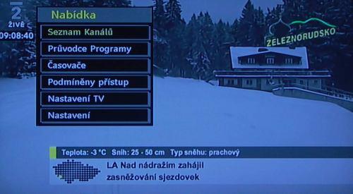 Gogen TVL32895 základní menu