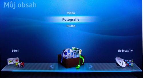 Samsung UE32D4000NW menu - můj obsah