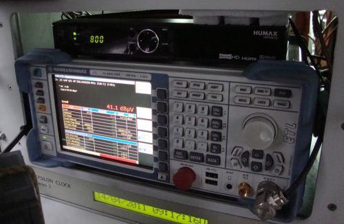 DVB-T2 - set-top-box Humax pro měření