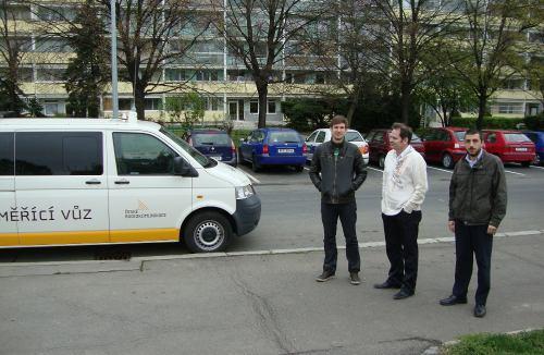 DVB-T2 - měření, osádka vozu