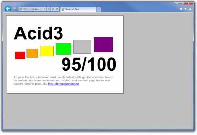 MSIE 9 Beta - ACID 3