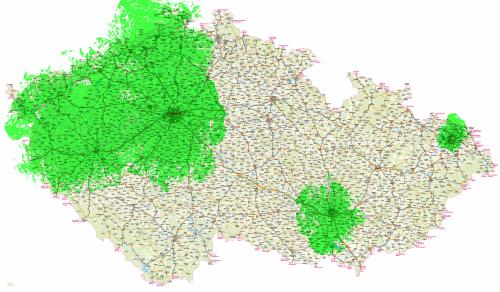 Mux 3 - pokrytí ČR k 1.7.2009