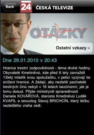 iPhone - ČT 24 Moravec