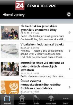 iPhone - ČT 24 zpravodajství