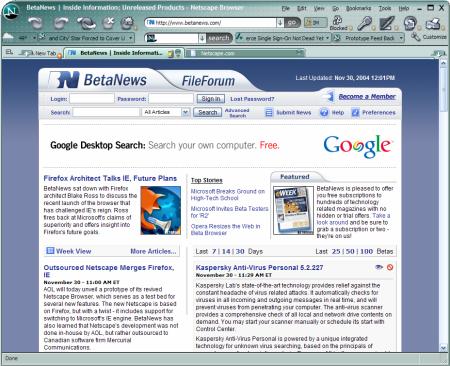 Netscape v roce 2004