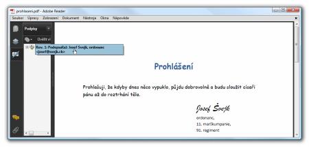podpis Josefa Svejka