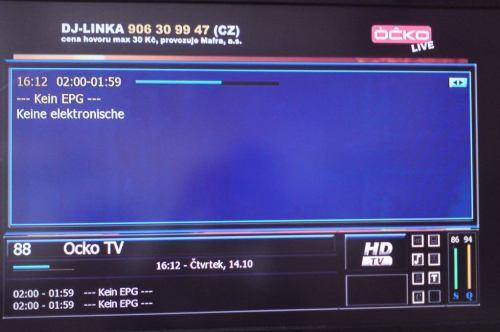 Óčko - EPG Astra