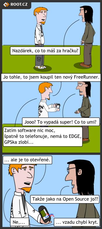 Komiks - otevreny telefon