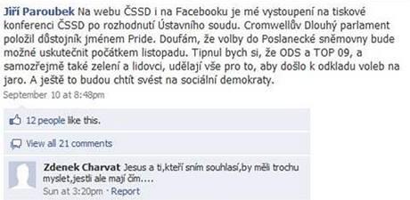 Paroubek na Facebooku