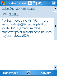 PaySec - SMS