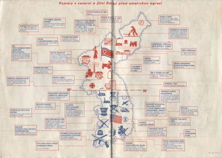 Poměry v severní a jižní Koreji před americkou agresí (1950)