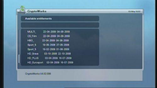 Homecast HS2000 CI podmíněný přístup