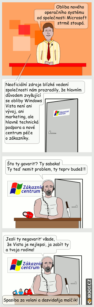 Komiks: Podpora Windows Vista