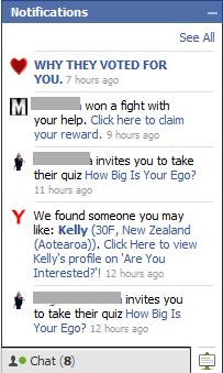 Facebook Quiz Spamerů