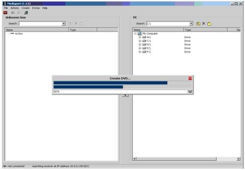 TechniSat HD8-S - průběh demultiplexu a tvorba DVD souborů