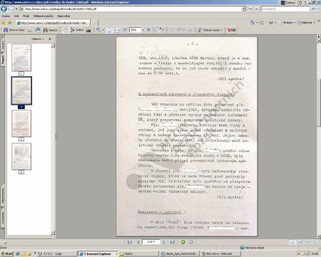 Dokument z archivu STB