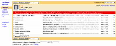 Výpadek Seznamu e-mail