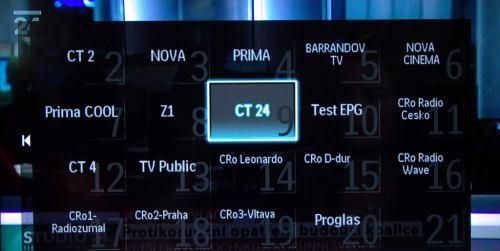 Philips 32PFL5405H seznam kanálů