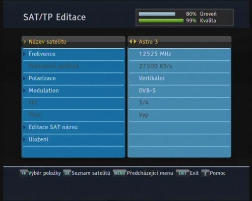 Topfield SBP-2010 transpondér