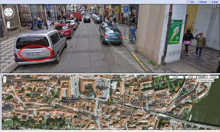 StreetView zajímavosti: SPZ se nepovedlo vymazat