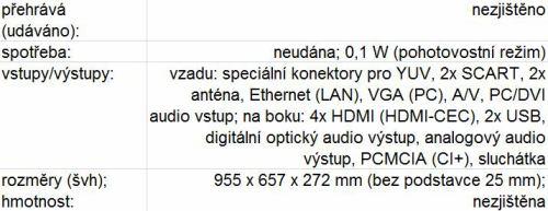 Samsung LED8000 tabulka