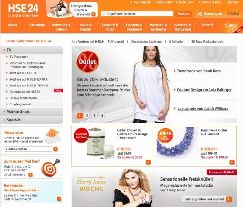 Teleshopping - web - HSE 24