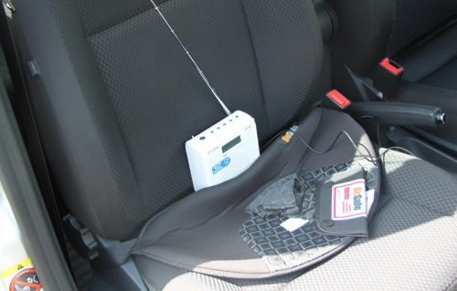 Pure One Mini - příjem v autě