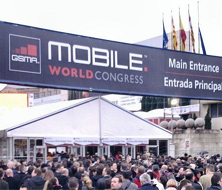 vstup na vystaviste MWC Barcelona