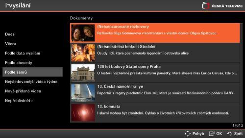 HbbTV - widget ČT