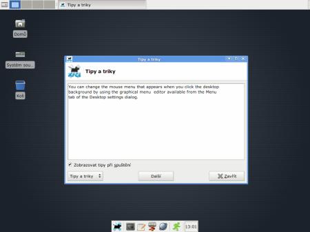 Xfce 4.6 - první start
