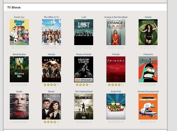 Jednotlivé tituly lze ohvězdičkovat. Pak Netflix opět přizpůsobí výběr co nejblíže vašim preferencím.