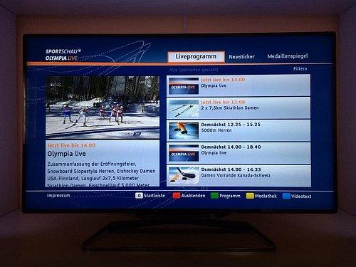 Ukázka z aplikace Olympia, kterou nabízejí společně ARD a ZDF. Zdroj: @KRDigital (Twitter)