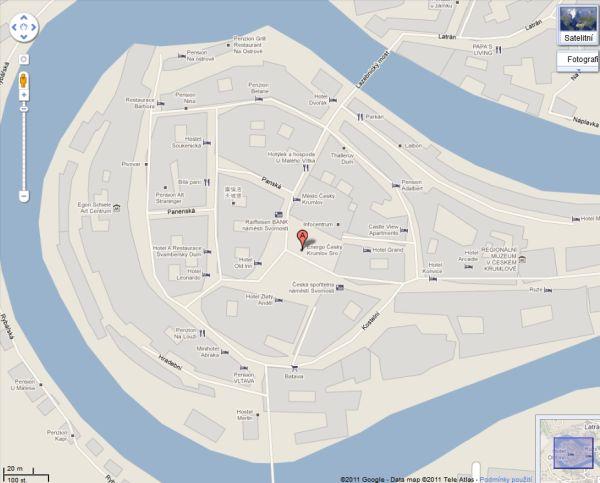 Google maps: Český Krumlov