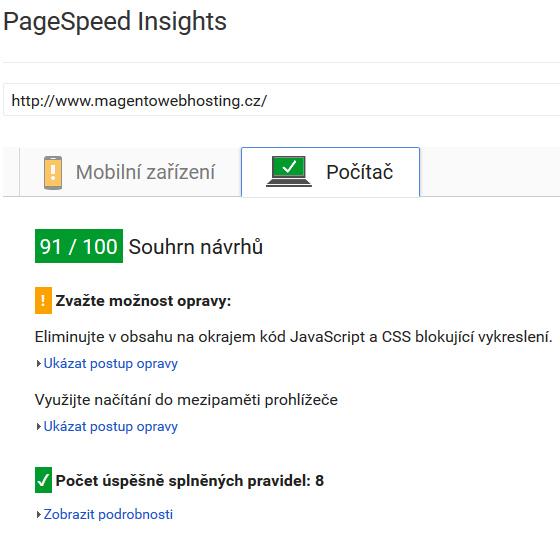Kromě Pingdomu, GTMetrixu je PageSpeed Insights asi nejvyužívanějším řešením pro měření rychlosti webu a optimalizaci rychlosti načítání pro webové stránky