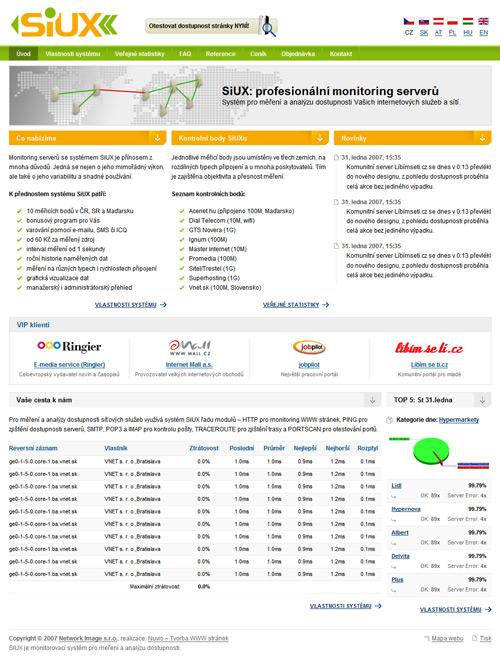 Homepage www.SiUX.cz